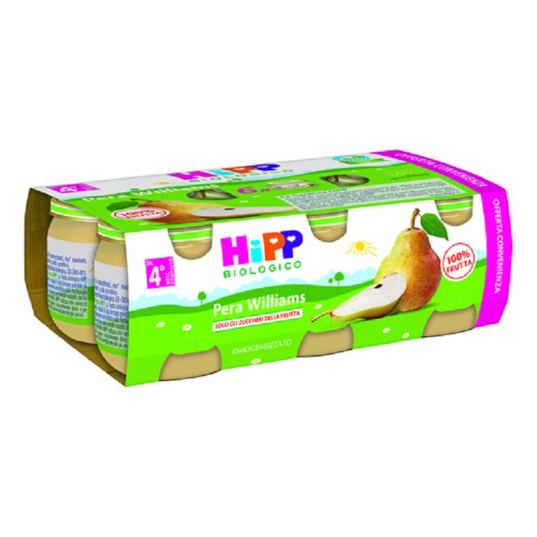 HIPP BIO OMO PERA WILLIAM 100% 6X80G