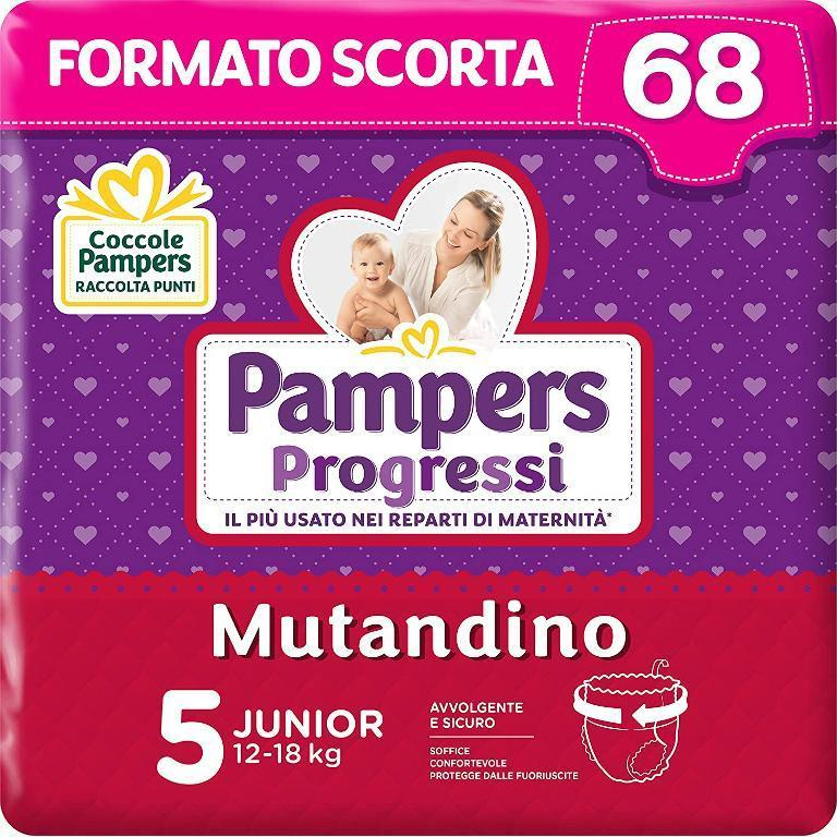 PAMPERS PROGRESSI MUTANDINO JUNIOR 68PZ